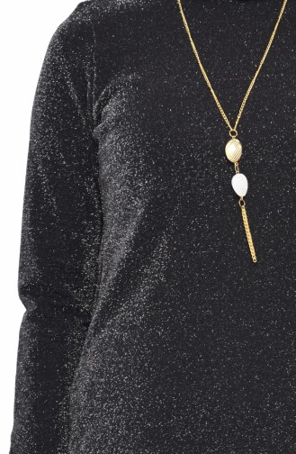 Necklace Tunic Pants Binary Suit 1310-03 Black 1310-03