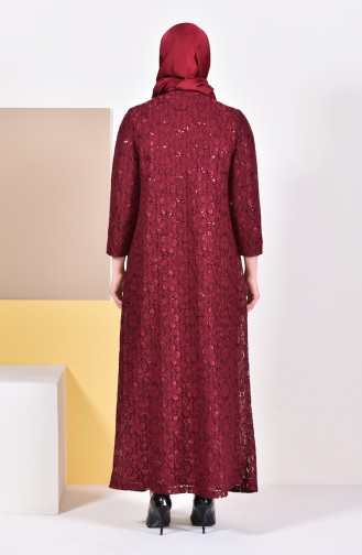 فساتين سهرة بتصميم اسلامي أحمر كلاريت 6004-04
