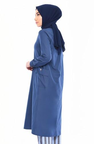 ELIFSU Pocket Tunic 1289-02 İndigo 1289-02