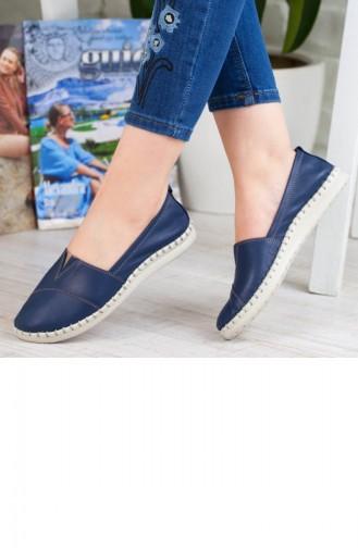 Kadın Günlük Ayakkabı A192Yeva000106Nu Lacivert Deri