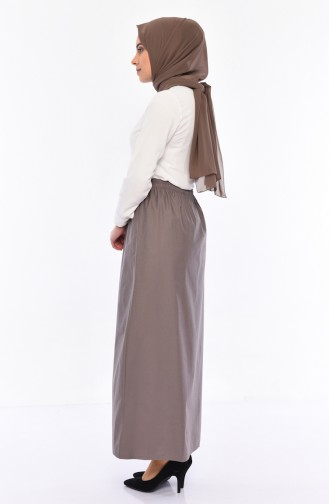Plated Waist Skirt 1001B-01 dark Mink 1001B-01