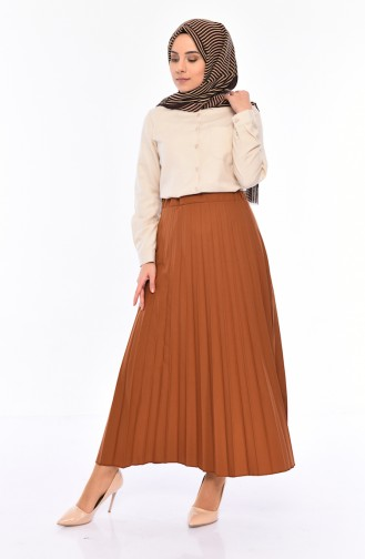 iLMEK Pleated Skirt 5224-08 Taba 5224-08