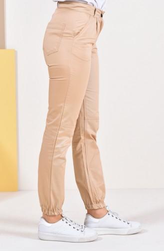 Pantalon avec Poches 2075-02 Beige 2075-02