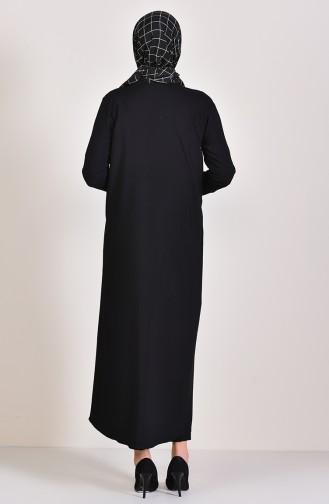 Uzun Viskon Hırka 4028-05 Siyah