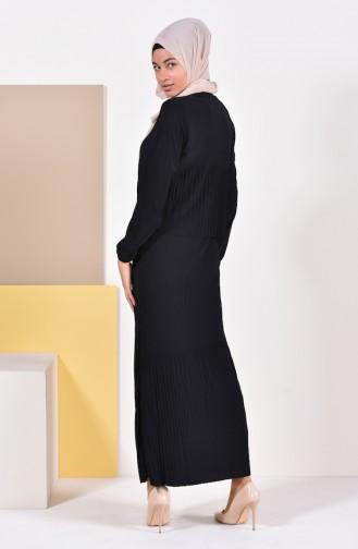 Pleated Dress 0310-01 Black 0310-01