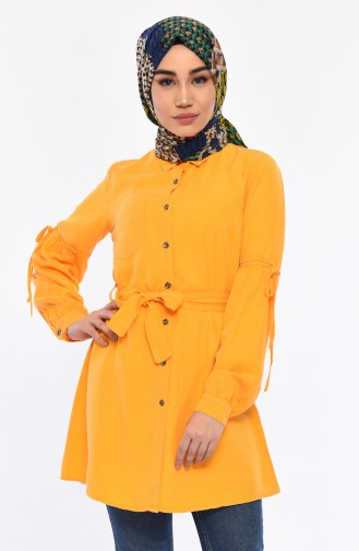 Belted Tencel Tunic 0719-02 Yellow 0719-02