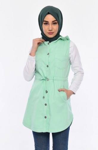 Hooded Vest 16046-01 Mint Green 16046-01