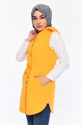 Hooded Vest 16046-02 Yellow 16046-02