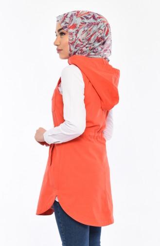 Hooded Vest 16046-03 Pomegranate flower 16046-03