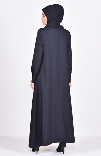 Tassel Detailed Abaya 6756-05 Black 6756-05