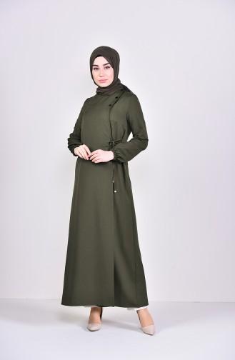 Khaki Abaya 6814-02