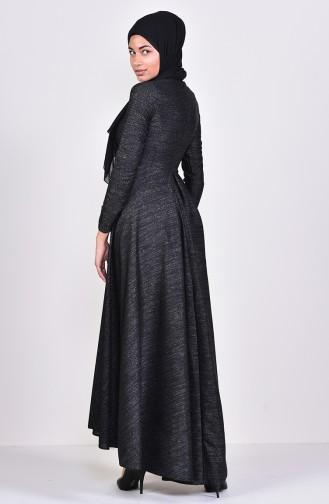 Robe a Paillettes et Collier 4269-01 Noir 4269-01