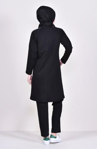 Fermuarlı Eşofman Takım 1050-02 Siyah 1050-02