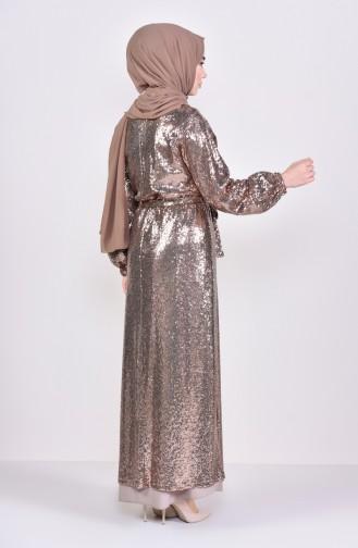Payetli Abaya 7833-05 Gold