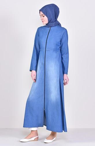Jeansblau Abayas 1016-01