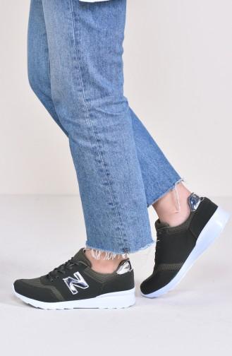 Chaussures Sport Pour Femme 0776 Vert Khaki Platine 0776