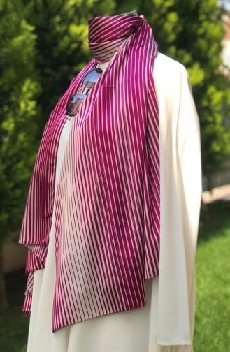 Patterned Satin Shawl 52422-01 Fuchsia 52422-01