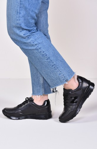 ALLFORCE Sneakers Women´s Shoes 0777 Black Patent Leather Mat 0777