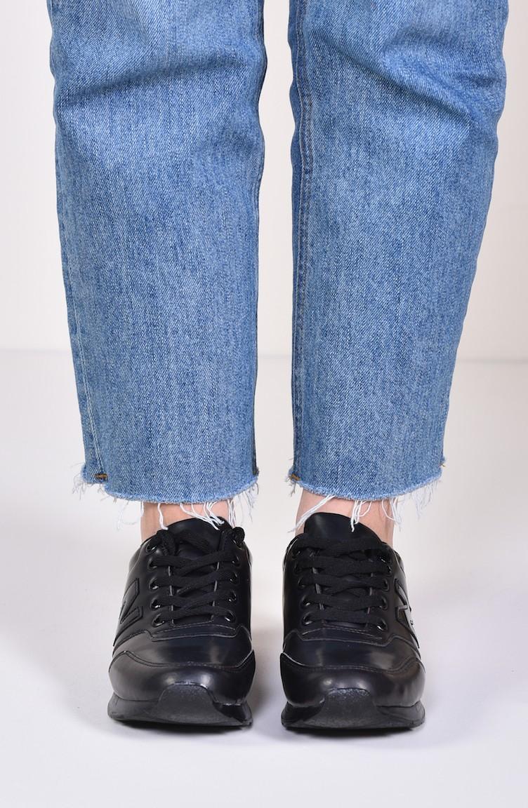 e482460d40 ALLFORCE Sneakers Women´s Shoes 0777 Black Patent Leather Mat 0777