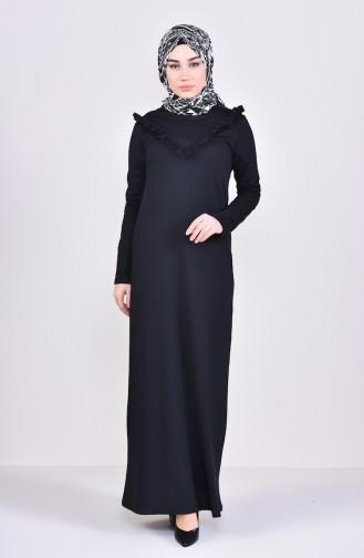 TUBANUR Ruffled Dress 2992-02 Black 2992-02