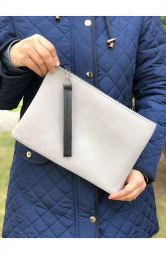 Gray Portfolio Hand Bag 12-14