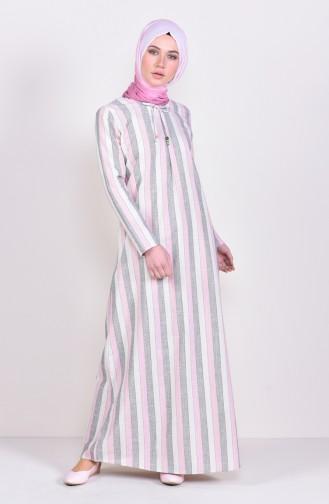 Striped A Pile Dress 6366-02 Powder 6366-02