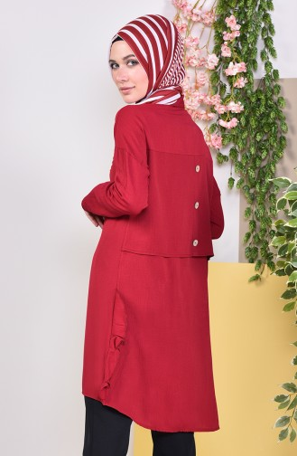 Buttons Detailed Tunic 1929-03 Claret Red 1929-03