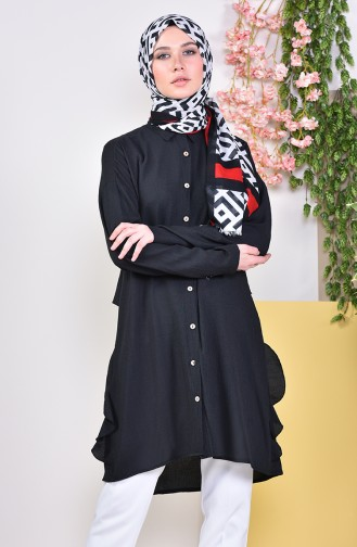 Buttons Detailed Tunic  1929-05 Black 1929-05