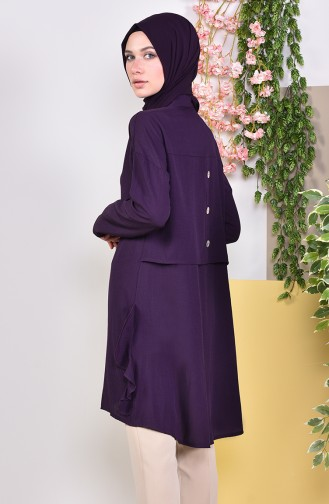 Buttons Detailed Tunic 1929-09 Purple 1929-09