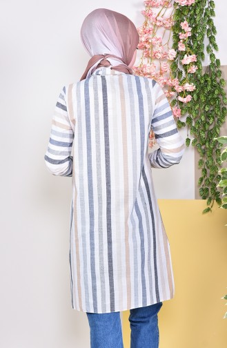 Striped Tunic 6368-01 Mink 6368-01