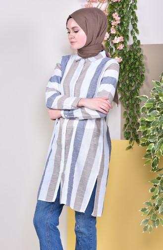 Striped Tunic 6369-01 Mink 6369-01