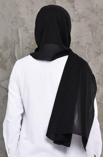 Plain Chiffon Shawl 4249-01 Black 4249-01