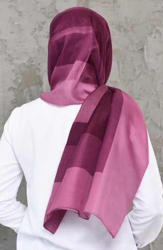 Patterned Cotton Shawl 95262-03 dark Purple 95262-03