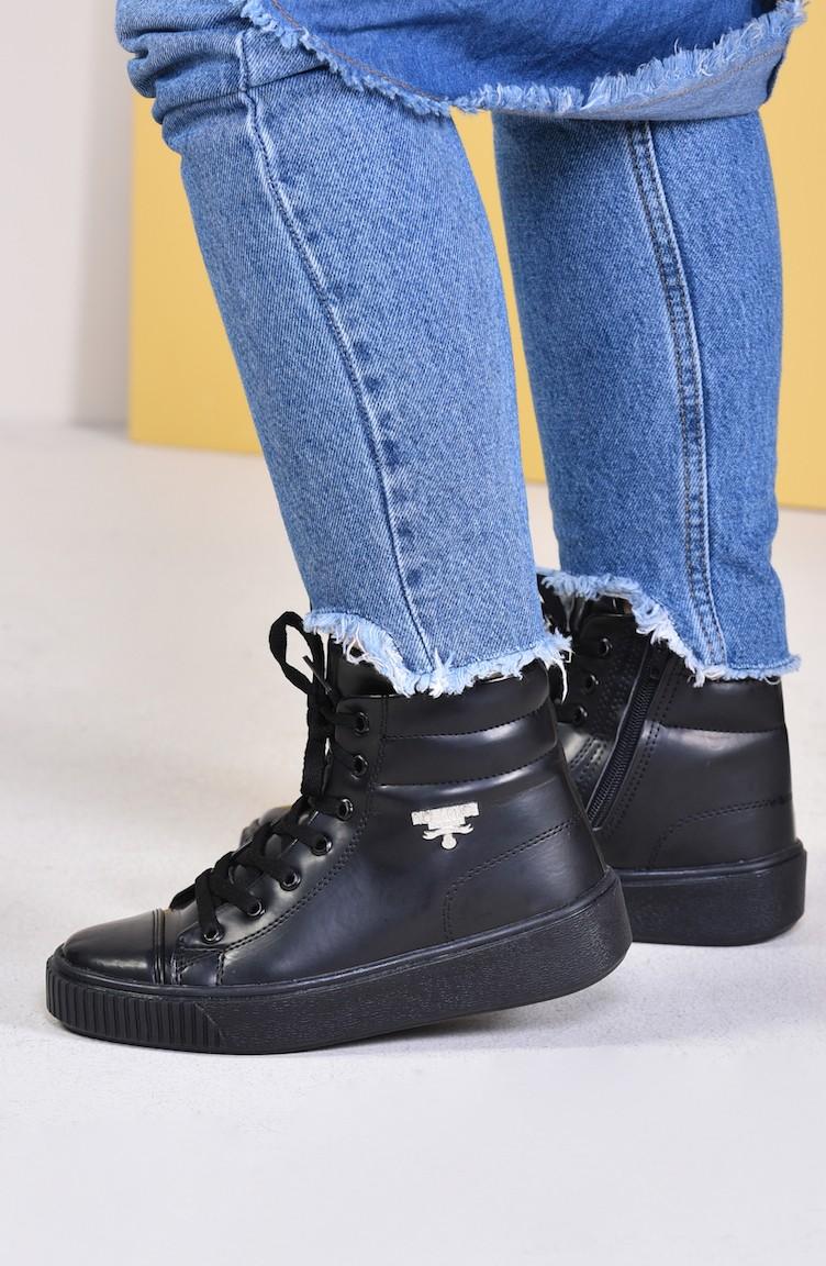 37752d753e Women Boots 0810-16 Black Patent Leather Mat 0810-16