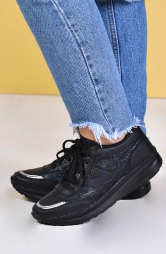 ALLFORCE Women´s Sports Shoes 0756-02 Black Black Silver 0756-02