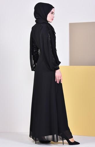 Robe de Soirée 52736-02 Noir 52736-02