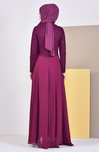 Stone Evening Dress 5078-01 Plum 5078-01