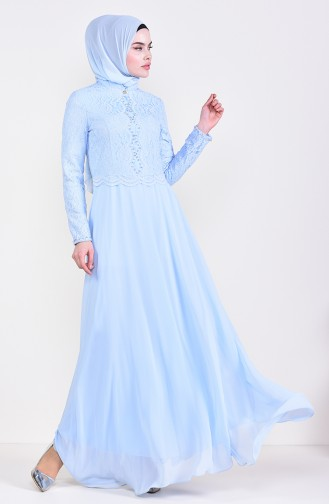 Stone Evening Dress 5078-03 Baby Blue 5078-03