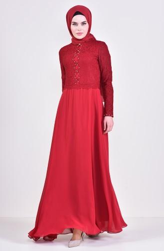 Stone Evening Dress 5078-05 Bordeaux 5078-05