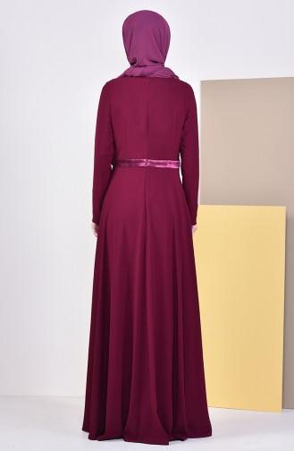 Robe de Soirée 6002-02 Plum Foncé 6002-02