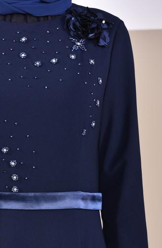 Robe de Soirée 6002-04 Bleu Marine 6002-04