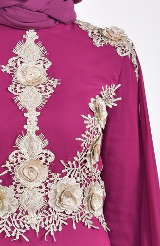 Robe de Soirée a Dentelle 8240-02 Plum 8240-02