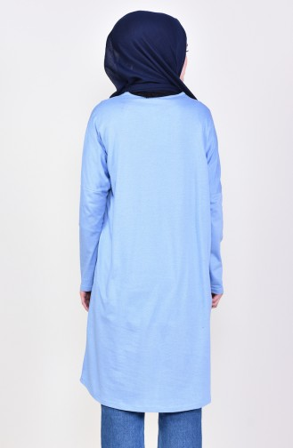 Bat Sleeve Seasonal Tunic 7834-01 Blue 7834-01
