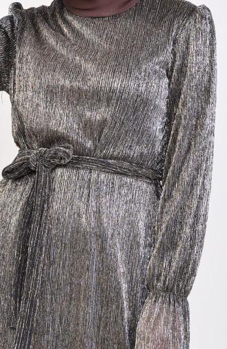 Robe Hijab Couleur Brun 81657-02