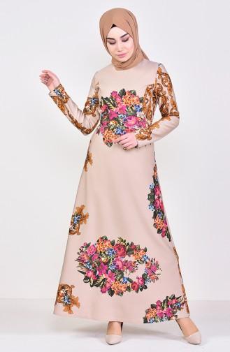 c68ee2cab5502 Krem Tesettür Elbise Modelleri ve Fiyatları - Tesettür Giyim - Sefamerve