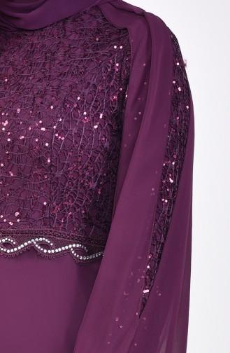 Caped Evening Dress 52736-05 Plum 52736-05