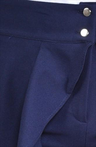 Pantalon Jupe Volant 31229-02 Bleu Marine 31229-02