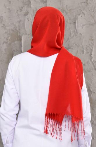 Plain Seasonal Cotton Shawl 901464-02 Red 901464-02
