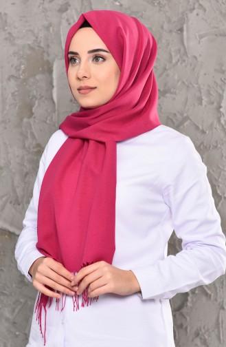 Plain Seasonal Cotton Shawl 901464-08 Fuchsia 901464-08