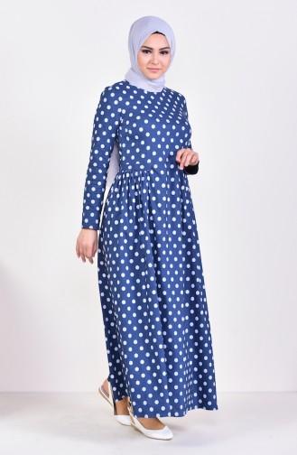 Kleid mit Plisee 1161-03 Dunkelblau 1161-03